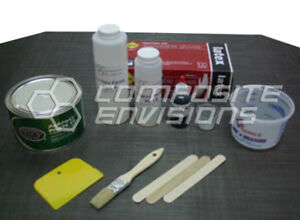 Carbon Fiber Part Wrapping Kit W Clear Epoxy Plain Weave Small Kit