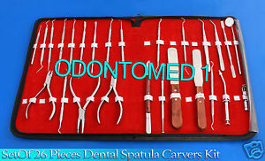 Set Of 26 Pieces Dental Ortho Instruments Spatula Carvers Composite Kit Dn 531