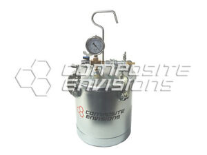 Vacuum Catch Pot Resin Trap Pressure Accumulator Tank With Gauges