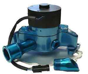 Proform 68220b Blue Aluminum Electric Water Pump W Backing Plate Incl For Ford