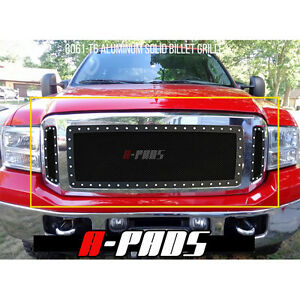 Ford Excursion F 250 F 350 2005 2007 Black Steel Wire Mesh Grille With Rivets