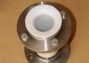 Enlin Stainless Steel 3 7 5 Dia Flange Pipe Connector 316l Ptfe Lined