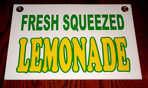 Fresh Squeezed Lemonade Coroplast Sign New 8 X 12 Concession Stand