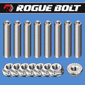 Sbc Valve Cover Stud Kit Bolts Stainless Steel 283 327 350 400 Small Block Chevy