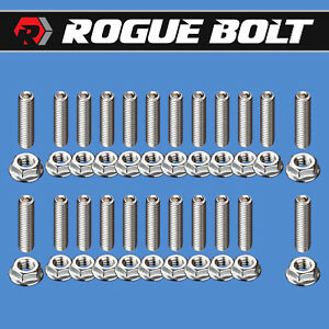 Bbf Oil Pan Stud Kit Bolts Stainless Steel Big Block Ford 429 460 Car F Series