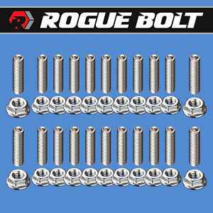 Sbf Oil Pan Stud Kit Bolts Stainless Steel Small Block Ford 289 302 351w 5 0l