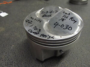 Small Block Chevy Forged Brc 63 Dome Gas Piston 4 030 Bore 1 700 Ch 2