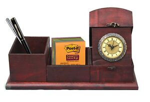New Vintiquewise Antique Wood Style Desk Organizer Qi003105