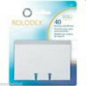 New 2 pak Rolodex Business Card Sleeve Refill 40 Cards 67691 For 2 63 x4 Cards