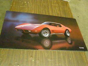 Oem 1977 Chevrolet Corvette Dealership Display Picture Cardboard