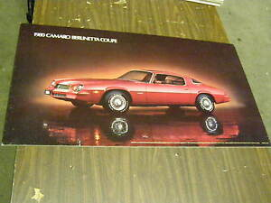 Oem 1980 Chevrolet Camaro Berlinetta Dealership Display Picture Cardboard