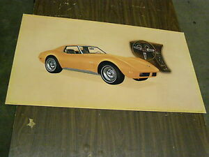 Oem 1974 Chevrolet Corvette Stingray Dealership Display Picture Cardboard