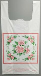 Free Shipping 1000 Size 12x7x23 1 Mil Rose T shirt Plastic Bags