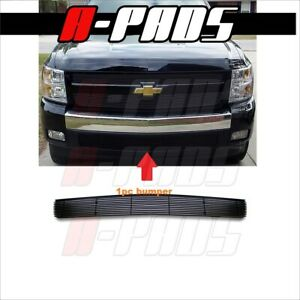 For Chevy Silverado 1500 2007 2012 Black Bumper Billet Grille Insert
