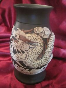 Chinese Carved Yixing Ware Dragon Figural Vase 2stock
