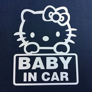 1pcs 4 X 5 Hello Kitty Car Sticker Emblem Label Window Laptop Ipad Stick K4