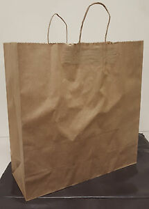 Paper Shopping Bag With Handles 200pcs Size 18x7x18 75 Brown Free Shipping