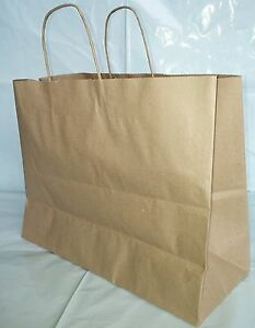 Paper Shopping Bags With Handle 250pcs Size 16x6x12 Vogue Brown Free Shipping