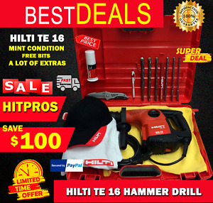 Hilti Te 16 Mint Condition Free Bits A Lot Of Extras Fast Shipping