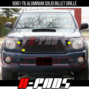 For Toyota Tacoma 2005 06 07 08 09 10 Black Upper Billet Grille Grill Insert Cut
