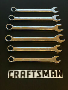 Craftsman 6pc Combination Polished S S Wrench Set 11 13mm 3 8 7 16 1 2in Sae