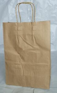 Paper Shopping Bags With Handles 250pcs Size 8x4 5x10 25 Brown Free Shipping