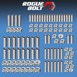 Sbf Small Block Ford Engine Stud Kit Bolts Stainless Pre 86 260 289 302 351w 5 0