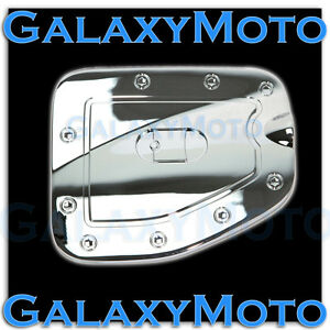 Triple Chrome Gas Door Trim Cover For 07 15 Toyota Tacoma Long Truck Bed Only