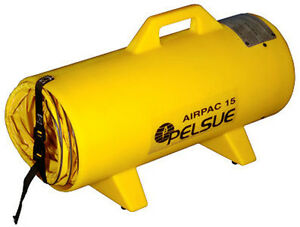 Pelsue Airpac15 Poly Can W 15 Hdpe Canister With 15 Hose Attaches To Blower