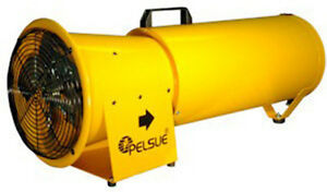 Pelsue 1475d Blower W 15 12 Vdc Blower Hose And Storage Can All in one 668 Cfm