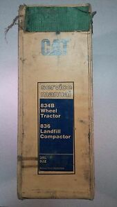 Caterpillar 834b Wheel Tractor 836 Compactor Service Manual Cat S n 3rl 92z