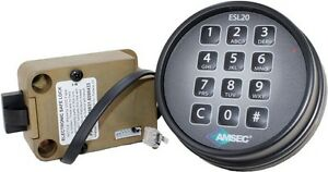 Amsec Esl20xl Digital Slam Bolt Lock W black Keypad Replaces S g And Lagard