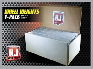 ONE 9 LB. BOX WHEEL WEIGHTS 1 2 OZ. STICK ON ADHESIVE TAPE 288 PIECES $26.95