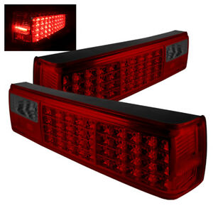 Ford 87 93 Mustang Red Smoked Rear Tail Lights Brake Lamps Left