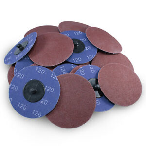 100 Pack 3 120 Grit A o Quick Change Sanding Disc Black Hawk Type R Roloc