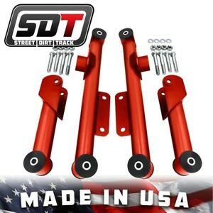 1979 2004 Cobra Rear Red Upper Lower Mustang Tubular Control Arms Kit Shelby Gt