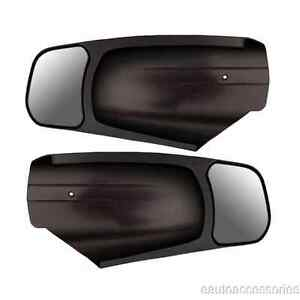 10950 Cipa 2 Black Plastic Custom Towing Mirrors Fits Silverado