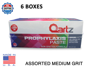 Qartz Prophy Paste Cups Assorted Medium 200 box Dental W fluoride 6 Boxes