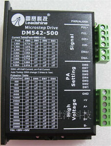 Cnc Dsp Stepper Drive Controller 2ph 20 50vdc Matching Nema23 34 Motor Leadshine