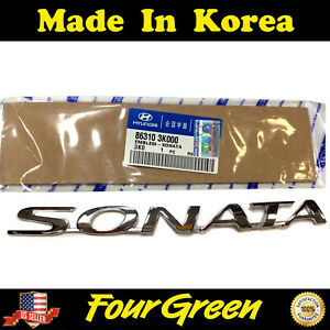 Emblem Trunk Rear For Hyundai 06 10 Sonata Factory Oem New 863103k000