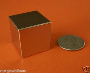 4 Pieces 1 Inch Rare Earth Neodymium Cube Magnet