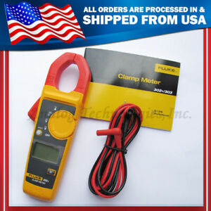 Fluke Digital Clamp 302 F302 Ac dc Multimeter Tester W Case