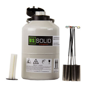 U s solid Liquid Nitrogen Tank 6 L Container Dewar Ln2 Cryogenic 6 Canisters
