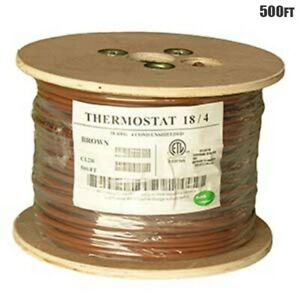 500ft 18 4 Unshielded Cmr Heating Air Conditioning Hvac Ac Thermostat Wire Cable