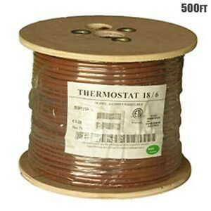 500ft 18 6 Unshielded Cmr Heating Air Conditioning Hvac Ac Thermostat Wire Cable