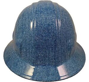 wild side blue Denim Fb And Cs Hydro Dipped Safety Hard Hat Do You Dare
