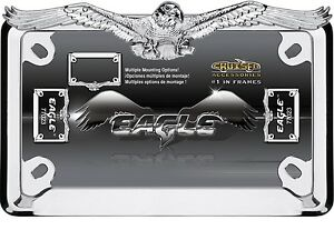 Eagle Hawk Motorcycle Chrome License Plate Frame Harley Davidson Honda