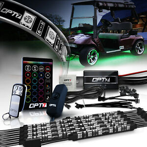 Body Glow Kit Led Lighting Underbody Strips For Club Car Ezgo Yamaha Golf Carts