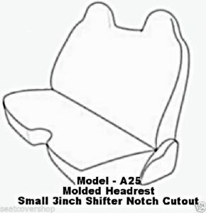 Triple Stitched Quality Front Solid Bench Custom Made Exact Seat Covers