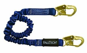 Falltech Elastech 6 Single Leg Shock Absorbing Lanyard Snaphook Ends 8240